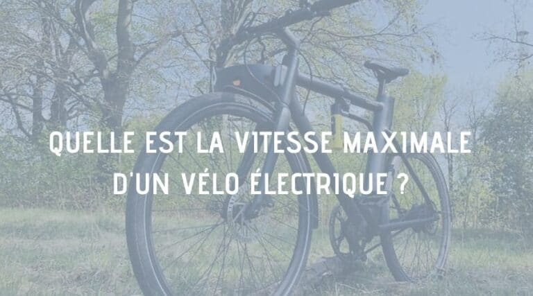 vitesse maximale vélo electrique